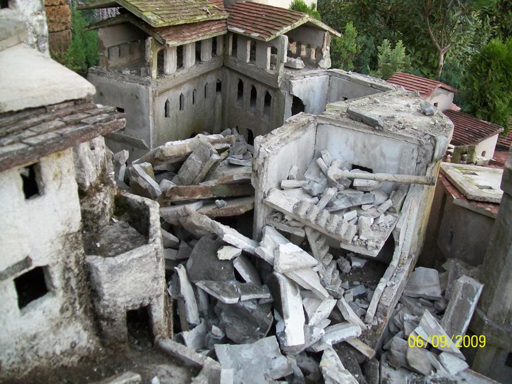 Bild 20. Zerstörung der zweiten Burg
