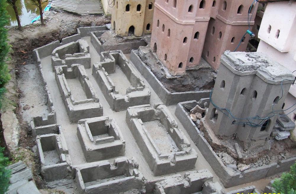Bild 21. Das neue Verfahren für den Bau der Fundamente