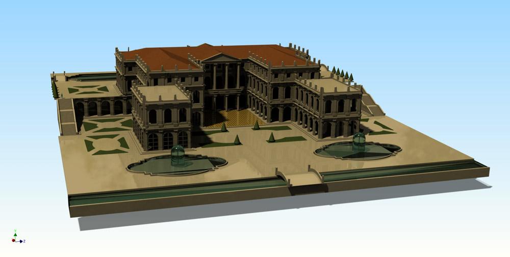 Bilder 3. Dreidimensionales Modell des Palastes