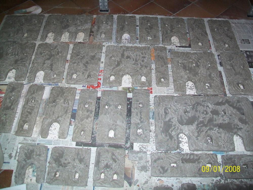 Bild 2. Die Mauern nach dem ersten Mörtelguss