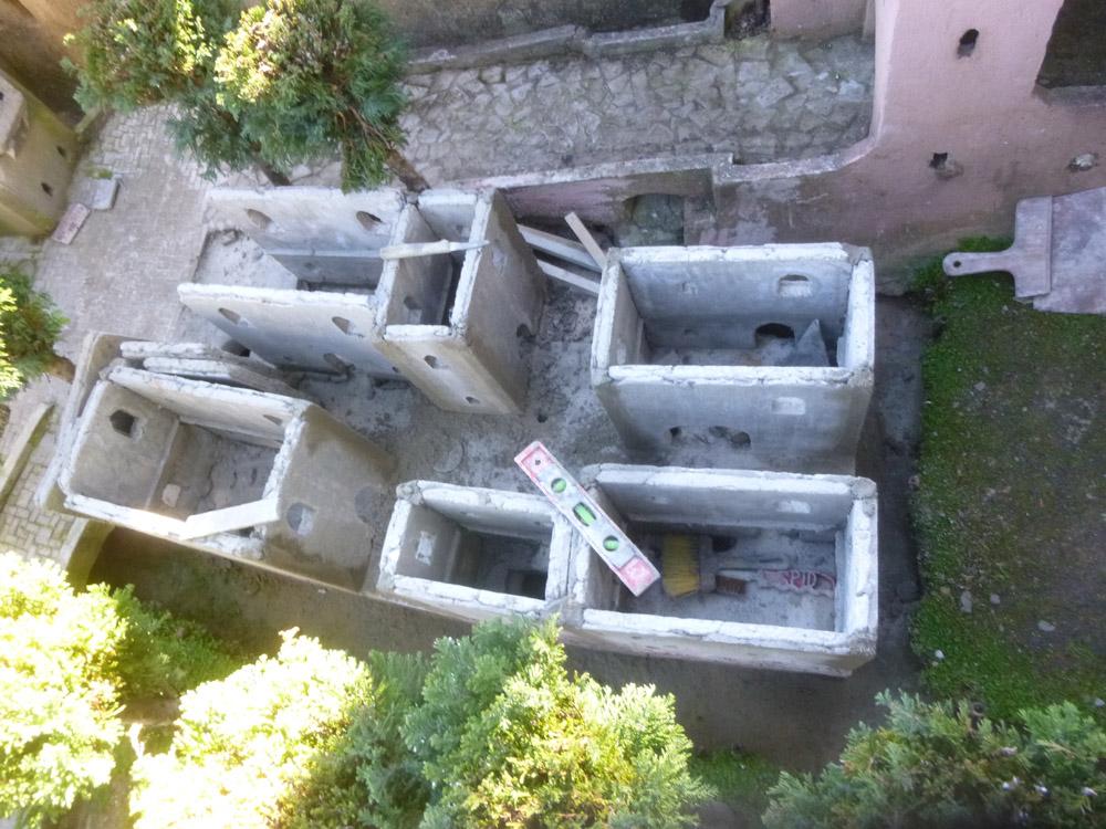 Bild 4. Die montierten Mauern