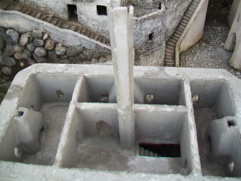 Bild 6. Die Kamine und die inneren Wände