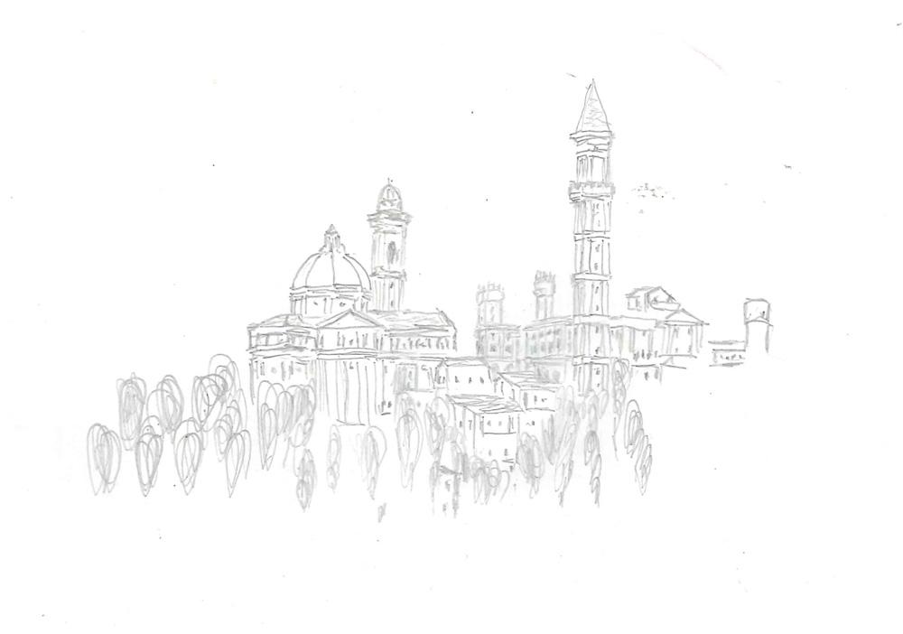 Bild 4. Gesamtansicht der Stadt mit dem neuen Dom