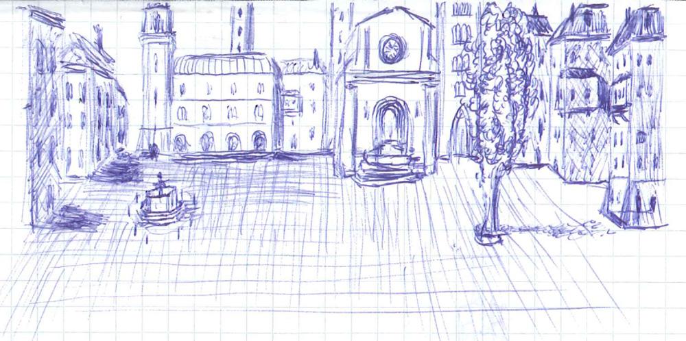 Bild 5. Möglicher Blick auf einen neuen Teil der Stadt (nie gebaut)