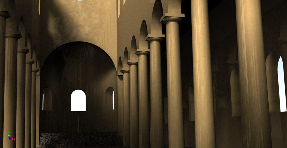 Figure 2. The three-dimensional interior of the basilica