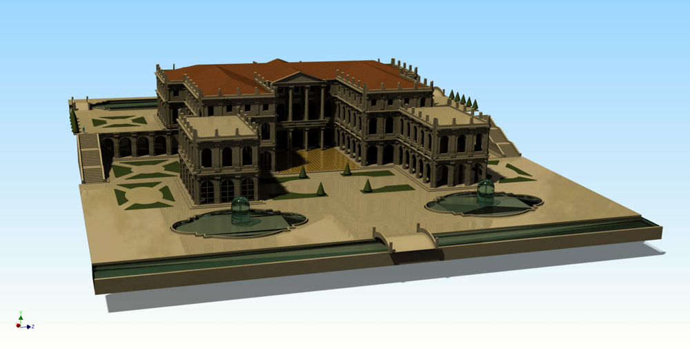 Figure 3. The three-dimensional aspect of the palace