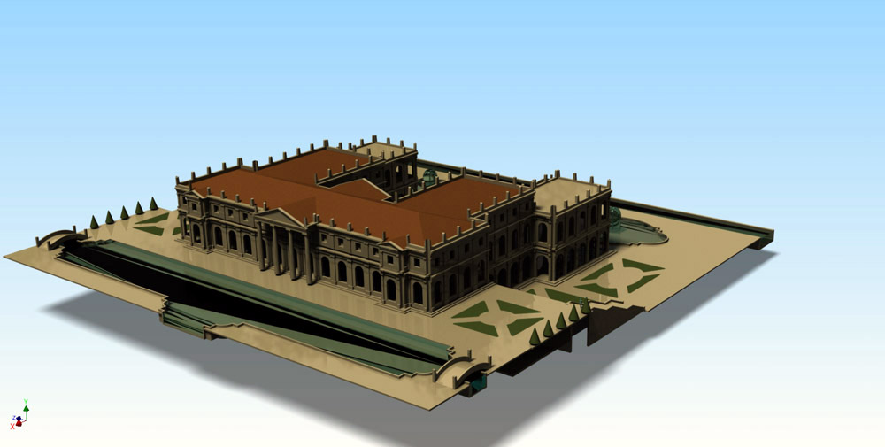 Figure 4. The three-dimensional aspect of the palace