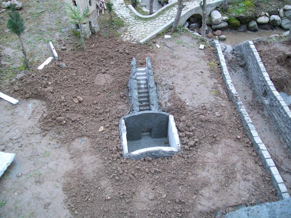 Figura 1. La cripta durante la costruzione